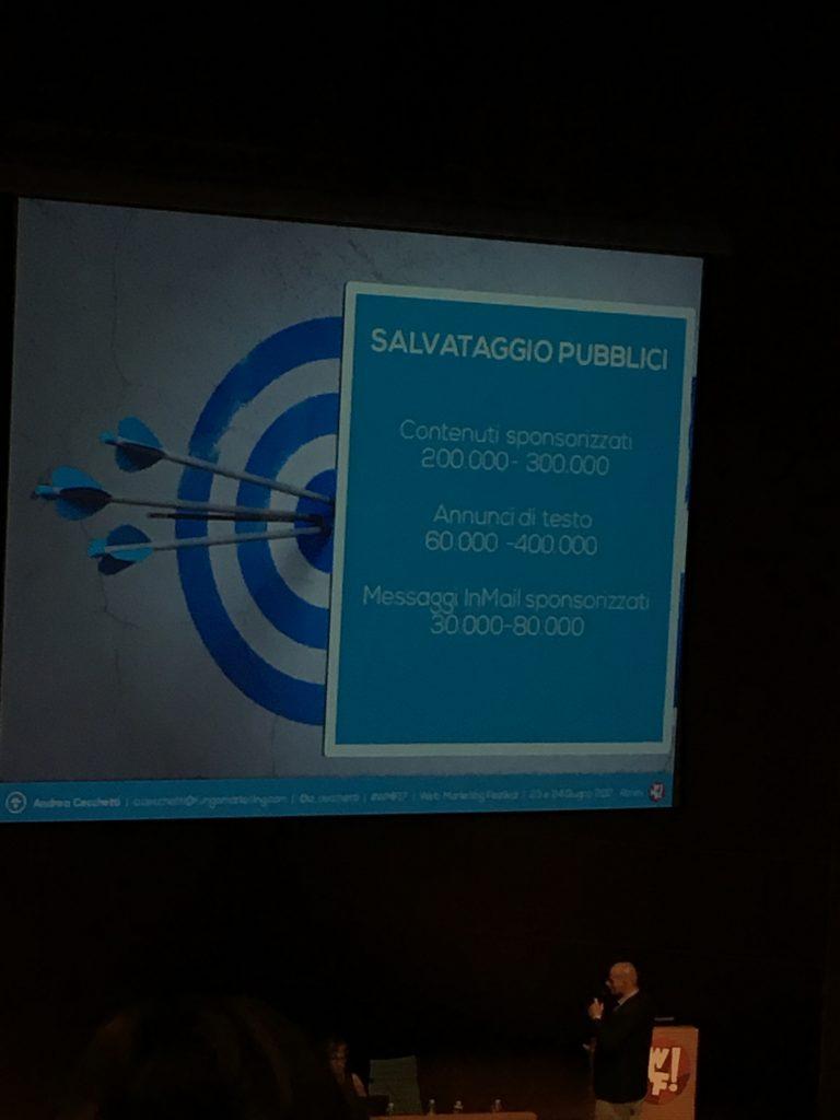 Presentazione di Andrea Cecchetti al Web Marketing Festival 2017